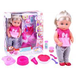Bábika bábätko, pije, ciká, džavotá 40 cm