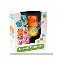Farebná pyramída zvieratká, 18m+