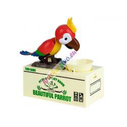 Hladný papagáj: interaktívna pokladnička