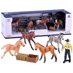 Set figúrok kone + farmár