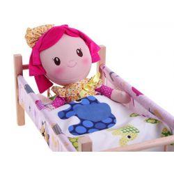 Drevená postieľka pre bábiku