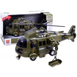 Vojenská helikoptéra so zvukovými a svetelnými efektmi