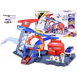 Trať s autíčkami + záchranársky vrtuľník