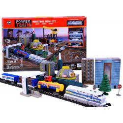 Elektrický vlak + vlaková stanica 670 cm