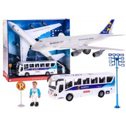 Zostava Letisko – lietadlo + autobus