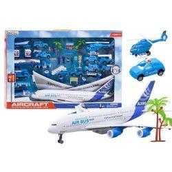 Veľká zostava Letisko, lietadlo Airbus, autíčka