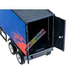 Veľký nákladiak s návesom na diaľkové ovládanie, 58 cm