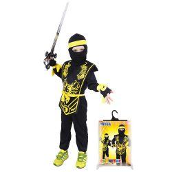 Kostým Ninja žltý M