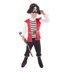 Kostým Pirát s klobúkom M