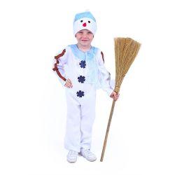 Kostým Snehuliak s čiapkou a modrým šálom S