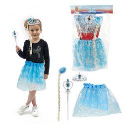 Kostým Elza s vrkočom a sukňou