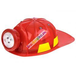 Detská hasičská prilba s baterkou
