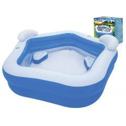 Bestway 54153 pohodlný nafukovací bazén so sedadlami, 213x206x69 cm