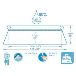 Bestway 57270 samonosný bazén, 305 x 76 cm, 4v1 s kartušovou filtráciou + filter