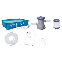 Bestway bazén 56411 s kovovou konštrukciou 300 x 201 x 66 cm + filtrácia + filter