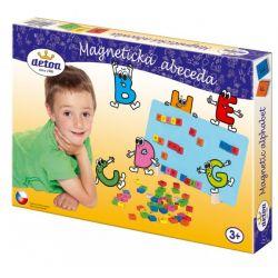 Magnetická abeceda, drevo 75 ks