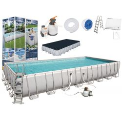 BESTWAY bazén PowerSteel 956x488x132cm s pieskovou filtráciou 56623