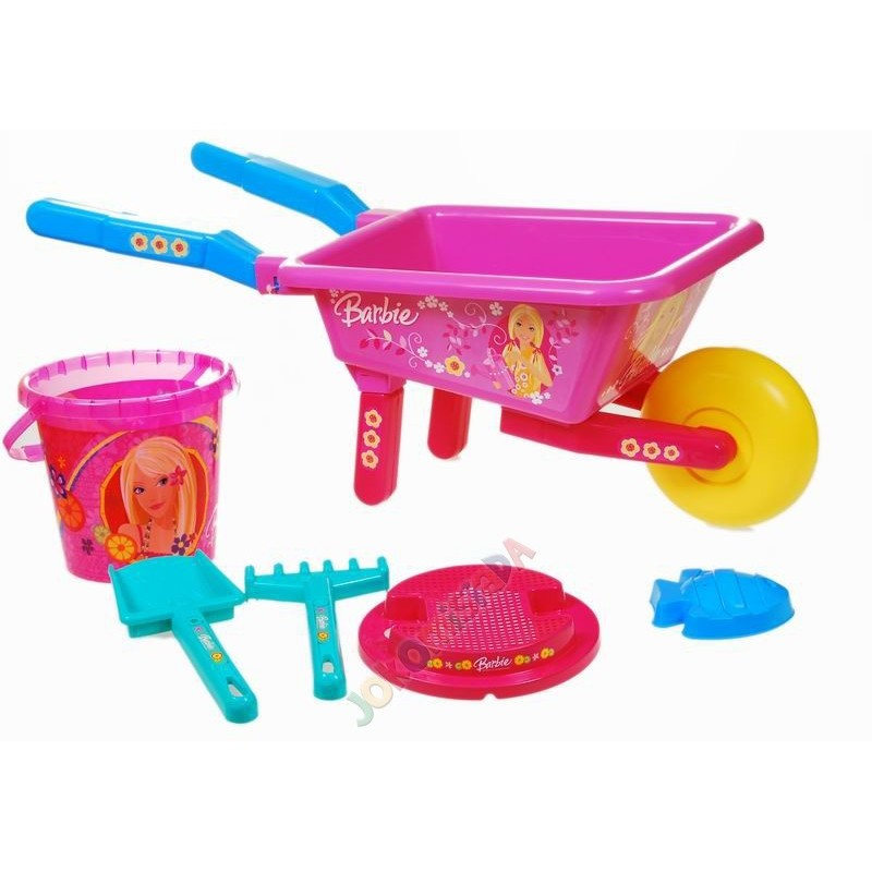 Barbie - súprava do piesku + fúrik