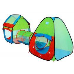 Detský samorozkladací stan s tunelom + domček
