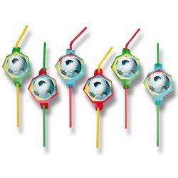 Plastové slamky Fotball Party (8ks)