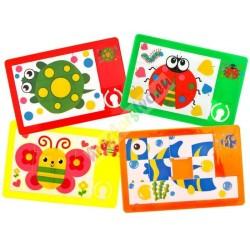 Vreckový posuvný hlavolam, puzzle, 4 druhy