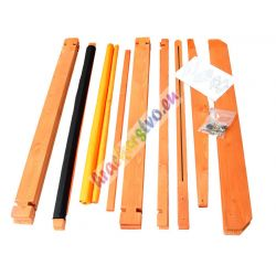 Drevené pieskovisko so strieškou, 2 farby