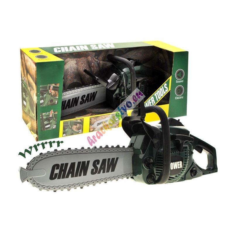 Detská motorová píla - zelená