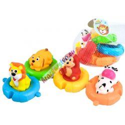 Plávajúce puzzle s gumenými zvieratkami