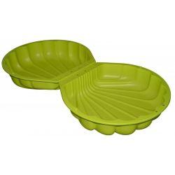 Plastové pieskovisko mušľa zelené