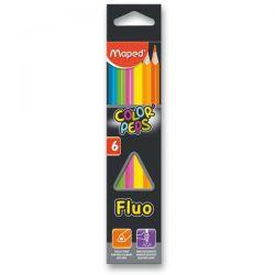 Pastelky MAPED trojhranné Color Peps FLUO