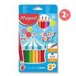 Pastelky MAPED trojhranné JUMBO 12 farieb