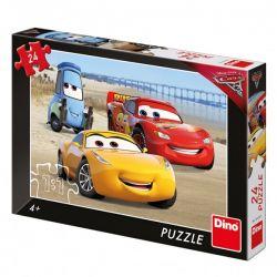 Puzzle Autá na pláži, 24 dielikov