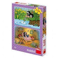 Puzzle Krtko a Perla 2x48 dielikov