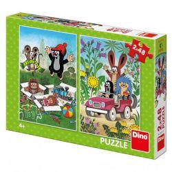 Puzzle Krtko sa raduje, 2x48 dielikov