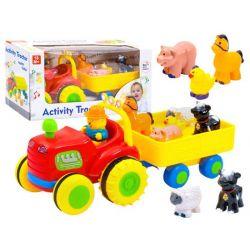 Interaktívny traktor s prívesom zvieratiek
