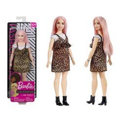 Bábika Barbie Fashionistas s leopardími šatami