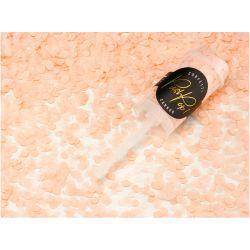 Vystreľovacie konfety, broskyňová farba