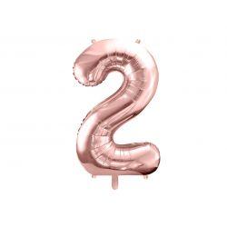 Balón fóliový, číslo 2 rúžové zlato