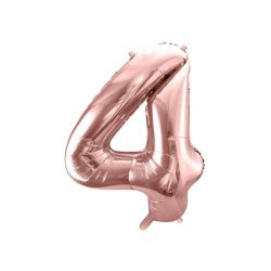 Balón fóliový, číslo 4 ružové zlato
