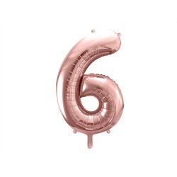 Balón fóliový, číslo 6 ružové zlato