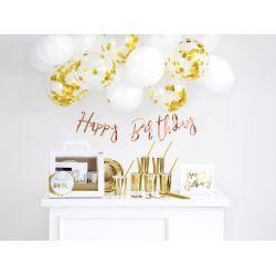 Sada dekorácií- Narodeniny, zlatá