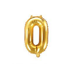Balón fóliový- číslo 0, zlatý