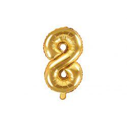 Balón fóliový- číslo 8,  zlatý
