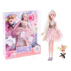Bábika modelka Emily s blond vlasmi