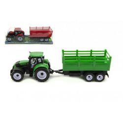 Traktor s vlečkou 38cm, na zotrvačník