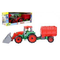 Traktor Truxx s figúrkou a vlečkou, 53 cm