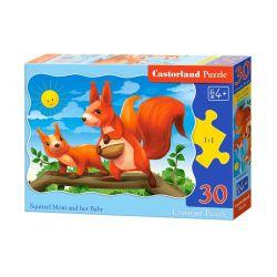 Castorland Puzzle Veveričky, 30 dielikov