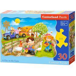 Castorland Puzzle Deň na farme, 30 dielikov