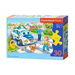 Castorland Puzzle Cesta do školy, 30 dielikov