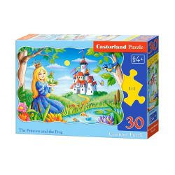 Castorland Puzzle Princezná a žaba, 30 dielikov